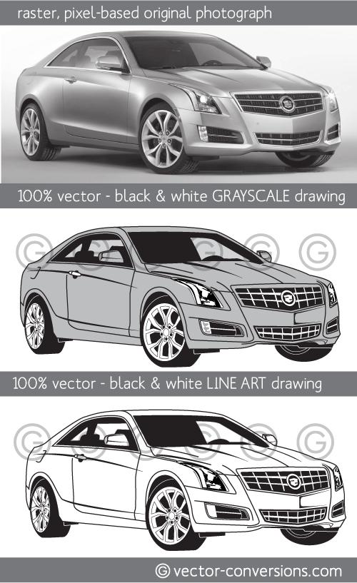 100% vector line art