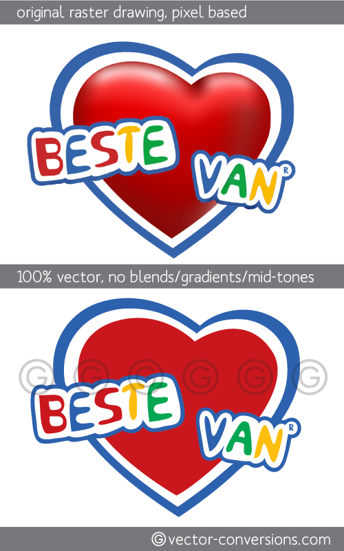 100% true vector art