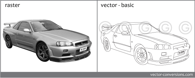 From photo to vector line drawing