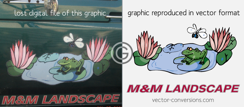 vector conversion of a graphic on a vehicle