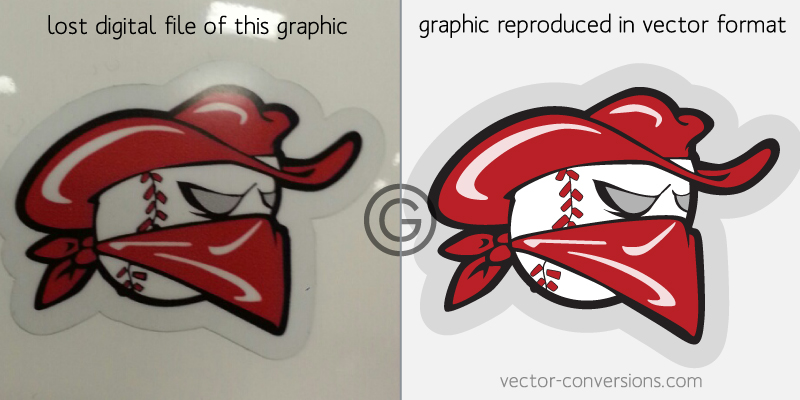 vector conversion of lost decal art