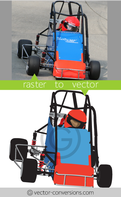 Vector Conversion from photo to vector illustration
