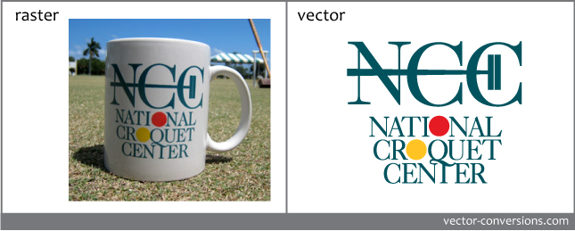 vector conversion of embroidery and specialty cup