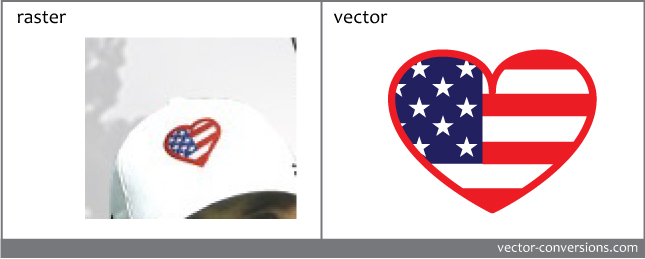vector conversion of embroidery hat