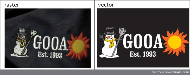 vector conversion of embroidery