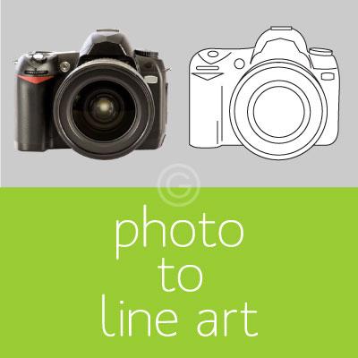 Photo to Line Art Vectorization