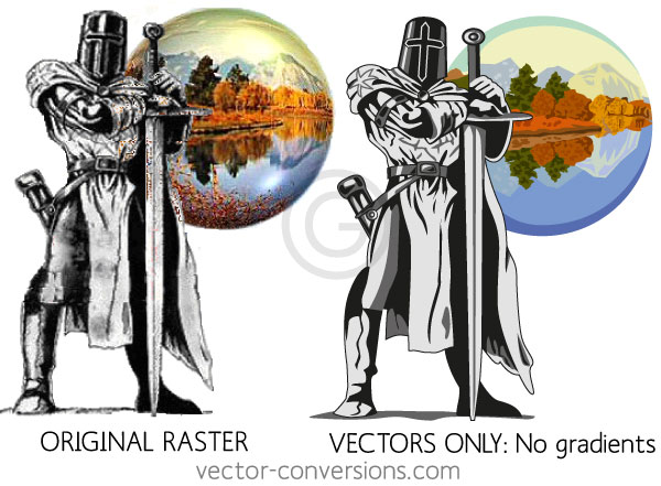 raster to vector conversion using 100% vectors