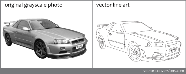 Line Drawing Photo : Line art vs grayscale vector conversion