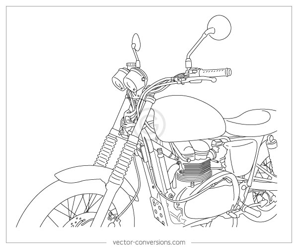 photo to vector line drawing for manual