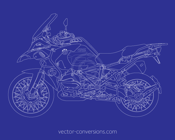 Photo to vector line art drawing for technical manuals