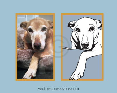 Line Art Vector Conversion from Photo to engrave on stone