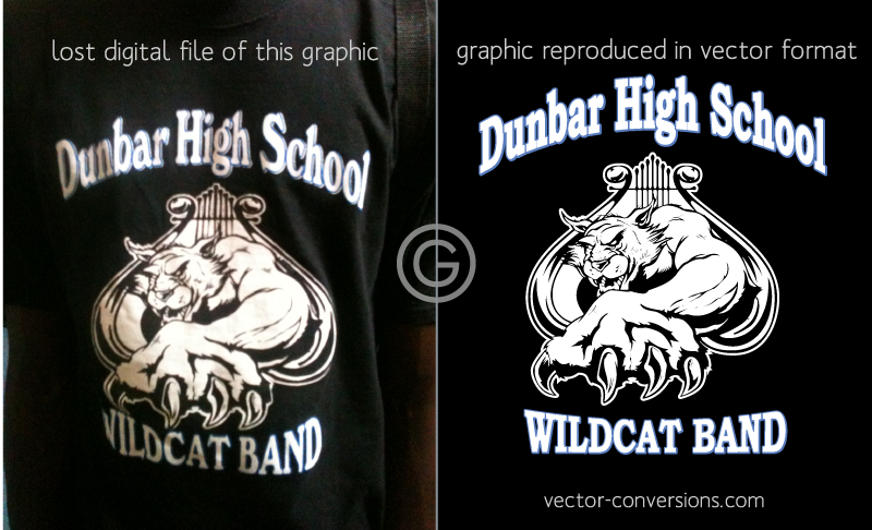 vector conversion of a t-shirt design