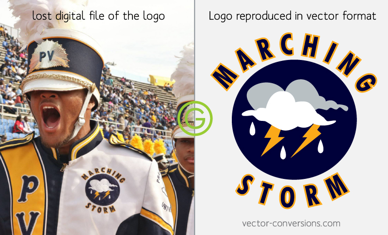 vector conversion of lost image