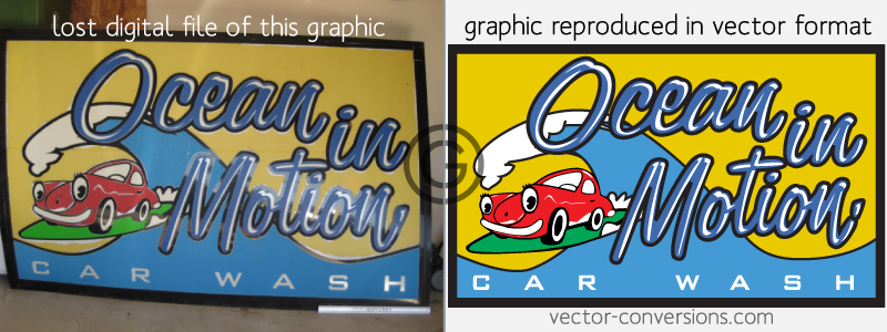 vectorization of lost artwork
