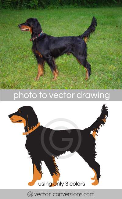 dog Vectorization for embroidery