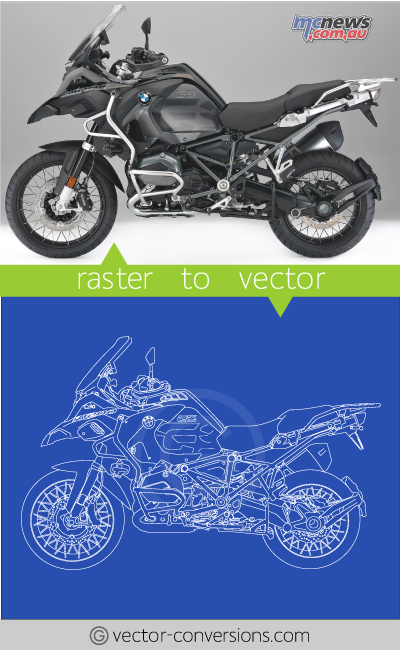 Vector conversion sample raster graphic to vector graphic