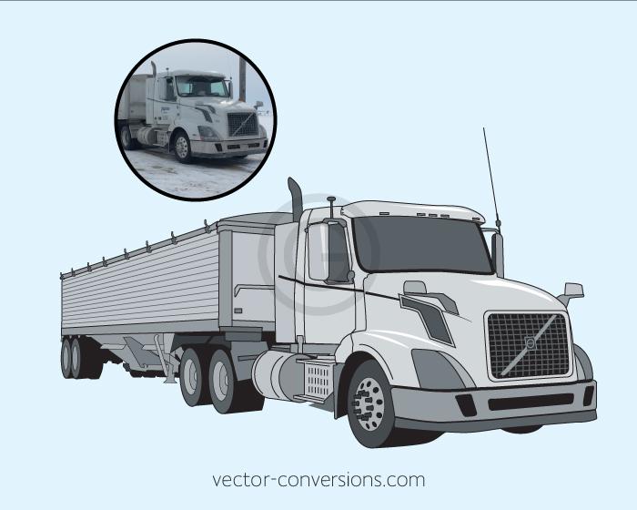 vector conversion of a semi truck