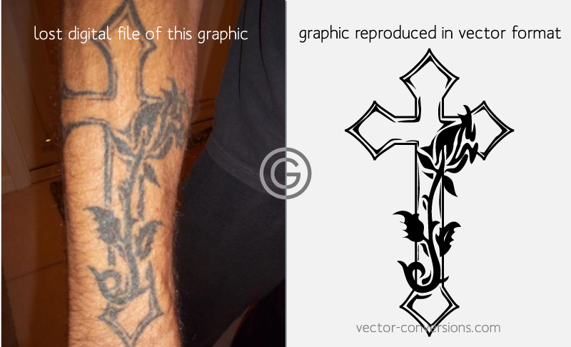 vector conversion of a tattoo