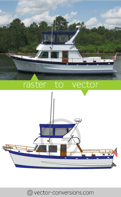Vectorization of a boat