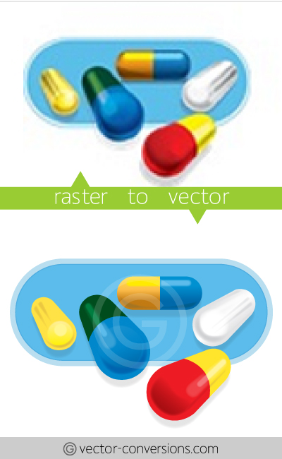 Vectors plus gradients drawing