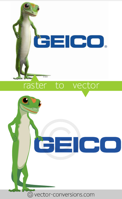 Vector Conversion Geico logo