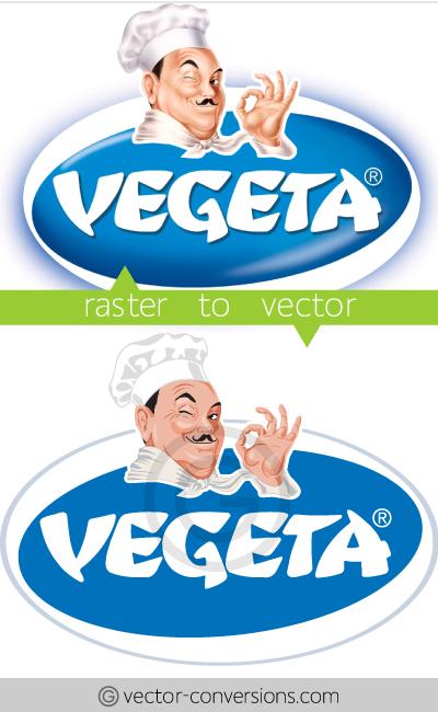 vector conversion vegeta logo