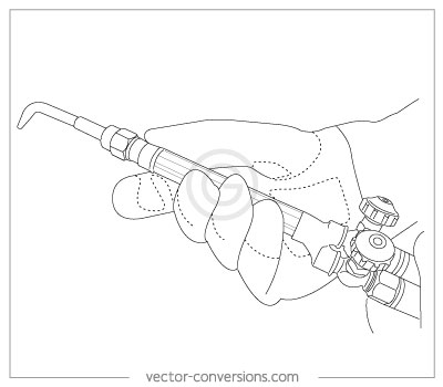 line drawing for technical instruction manual