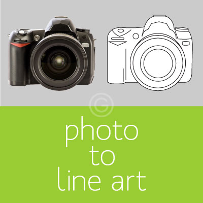 Photo to Line Art Vectorization