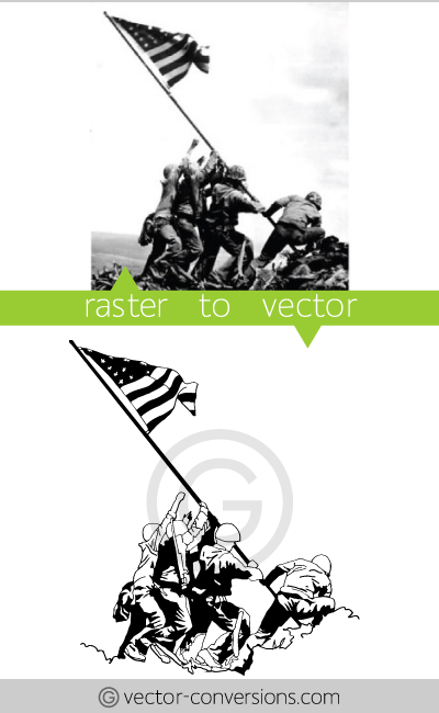 Vectorization lineart drawing